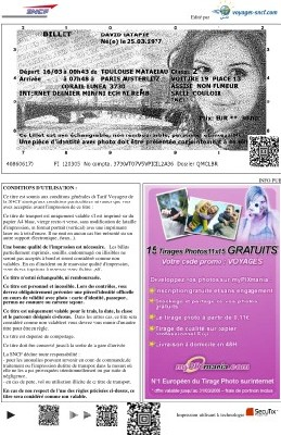 Le billet imprimé sera disponible en agence fin 2007 pour les individuels