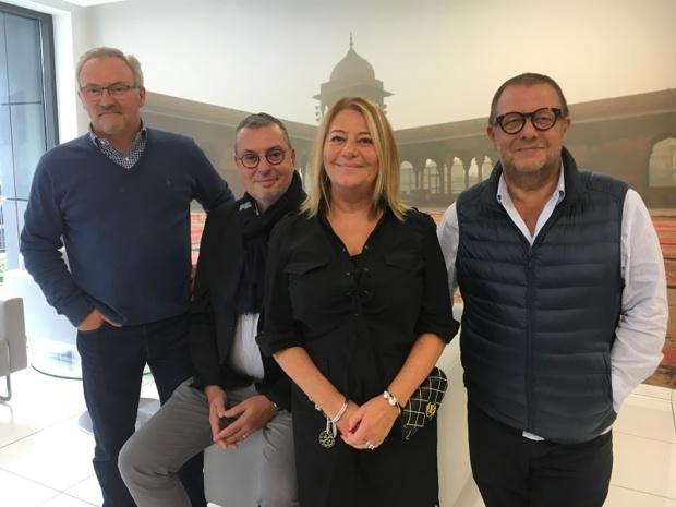 René Thibaut, directeur commercial, Michel Quenot, directeur du tour-operating, Barbara Grenie, directrice de production des to spécialistes et Emmanuel Foiry, PDG. -CL