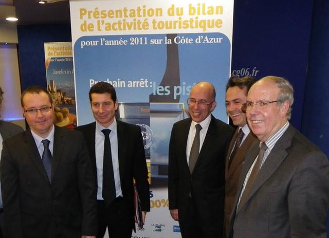 Le CRT Riviera Côte d'Azur a présenté son bilan annuel le 26 janvier 2012 - DR