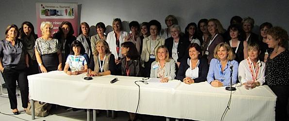 """L'association """"Femmes du Tourisme"""" pendant leur dernière réunion à Top Résa - DR : LAC"""