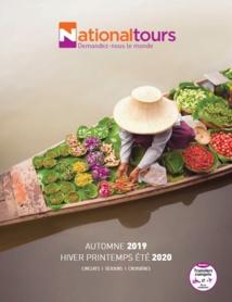 Nationaltours : le nouveau catalogue 2019/2020 arrive dans les agences