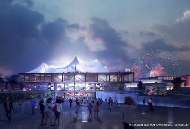 Parc de loisirs à thème, EuropaCity devrait ouvrir en 2027 dans le Triangle de Gonesse. - DR Clément Blanchet