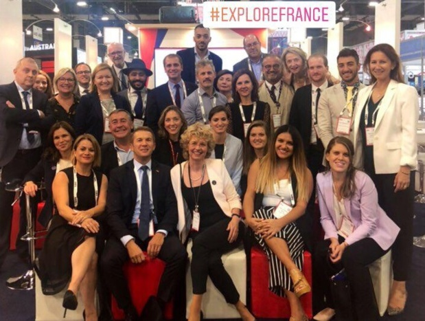 Sur un pavillon France de plus de 100 m², Atout France a réuni près d'une trentaine de professionnels français - DR : Atout France