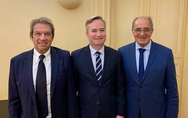 Georges Rudas (IFT), le Ministre Jean-Baptiste Lemoyne et Jean-Pierre Mas (EDV) - DR