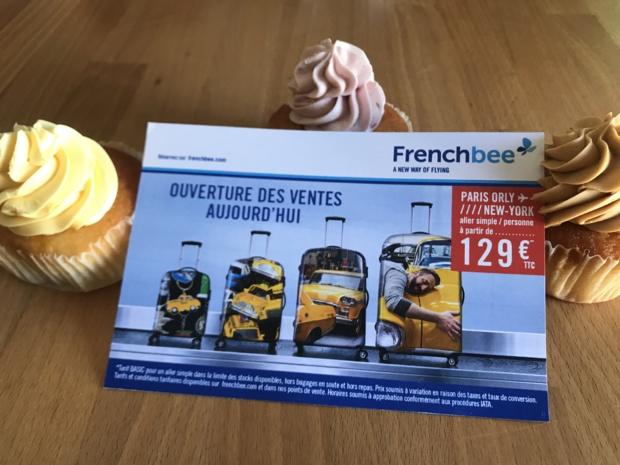 Chez French Bee, on parie sur les cupcakes et sur un aller simple à 129 euros © DR