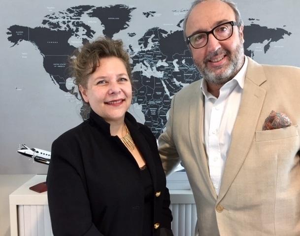 Sophie Lacour, fondatrice d'Advanced Tourism et Frédéric Lorin, Directeur d'IFTM Top Resa - Photo IFTM