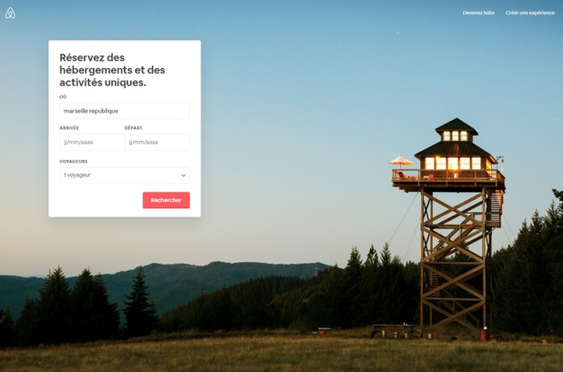 Airbnb, Inc. a l'intention d'entrer en bourse au cours de l'année 2020 - DR : Capture d'écran Airbnb
