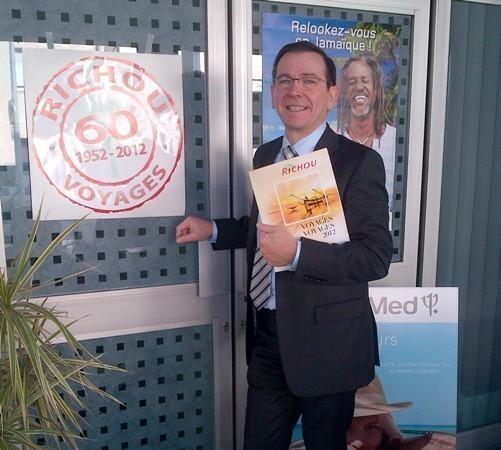 Daniel Richou est le président du mini-réseau Richou Voyages qui fête son 60e anniversaire en 2012 - Photo DR