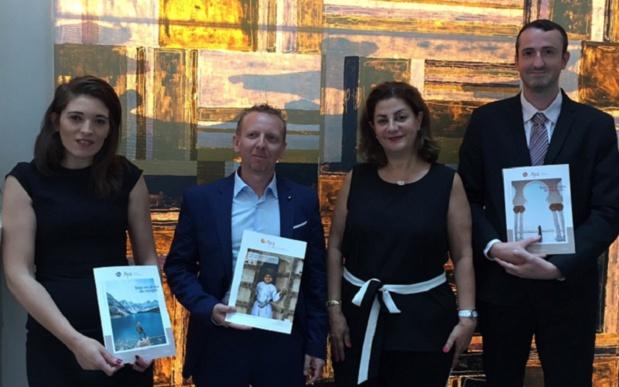 Audrey Gallais, chef de produit, Sadri Bejaoui, commercial, Adeline Kurban-Fiani, directrice générale, Emmanuel Garlès, responsable du développement. – DR Aya