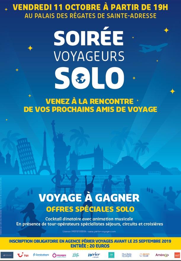 Soirée Voyageurs Solo organisée par Périer Voyages à Sainte-Adresse - DR