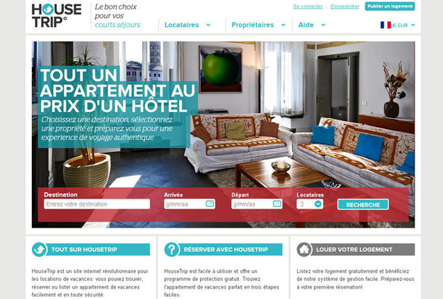 Locations vacances : Housetrip.com débarque en France