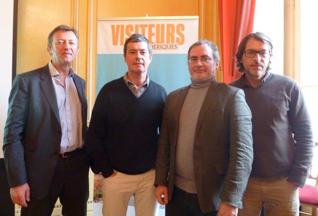 Didier Blanchard et Didier Rabaux, directeurs associés, Eric Savournin, chef de produit Amériques et Olivier Fossard, directeur de production - DR : M.S.