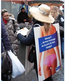 Street marketing : AS Voyages descend les « sandwich » dans la rue...