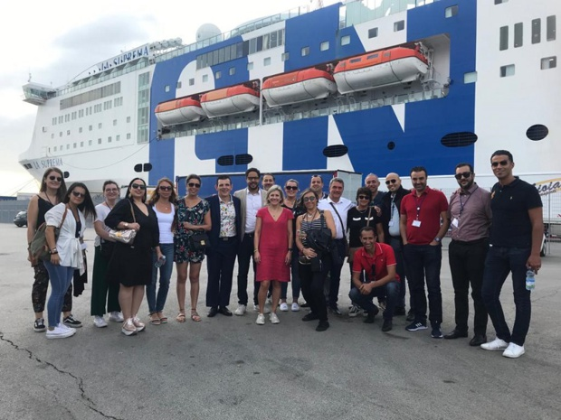 Les agents de voyages français et belges présents à la soirée GNV Awards 2019, qui s'est déroulée sur Le Suprema, le 22 septembre 2019. - DR