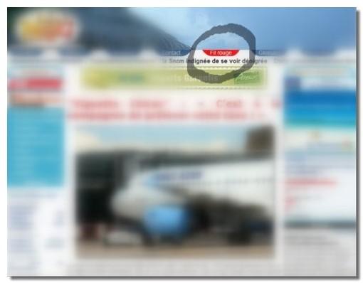 Cliquez sur le petit onglet rouge en haut de page pour avoir accès au FIL ROUGE