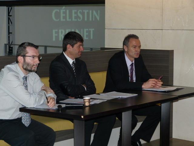 Jean-Philippe Plazaola, chef d'études à l'Insee Paca, Pierre Meffre, président du CRT Paca et Renan Duthion, Directeur régional de l'Insee Paca, ont présenté les résultats de leur enquête sur le poids du tourisme dans l'emploi en PACA - Photo CRT Paca