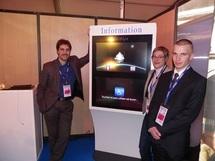 La société Andelia développe un écran tactile d'information mais aussi de réservation pour les cinémas - Photo DR