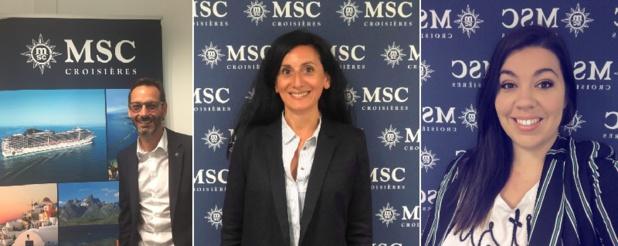 MSC Croisières France accueille 3 nouveaux commerciaux - DR