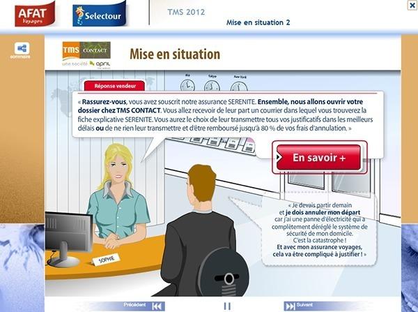 Les vendeurs ont accès à des mises en situation pour apprendre à utiliser le service de TMS Contact - Photo DR