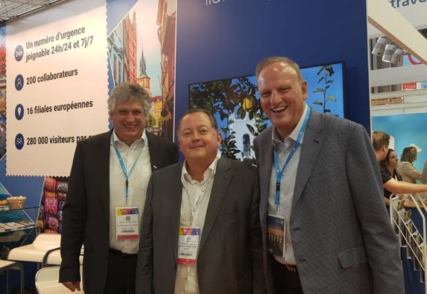 Helmut et Tony Gschwentner aux côtés de Vhristophe Chaillou du réceptif Creative Tours - DR