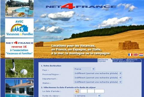 Net4france.com partenaire de l'association Vacances & Familles