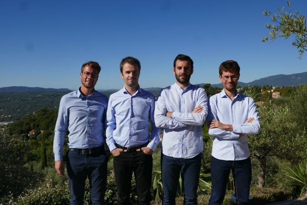 Thibaut Soudan, Pierre Servant, Benjamin Lalanne et Timothy Alliez, les quatre fondateurs de Smooss. - DR Smooss