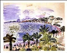 Affiche ''Promenade des Anglais'' par Raoul Dufy