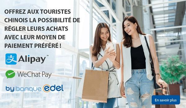 la Banque Edel propose aux commerçants et agences de voyages des solutions d'acceptation Alipay & WeChat Pay - Crédit photo : Banque Edel