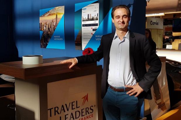 Arnaud Fontanille, directeur général du groupe Marietton sur le stand Havas Voyages - Travel Leaders à l'occasion de l'IFTM Top Resa - Photo CE