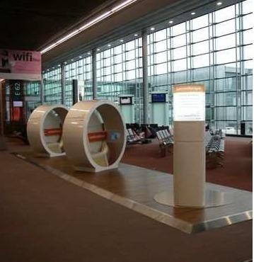 L'espace bien-être de luminothérapie est situé dans le terminal 2 à Roissy - Photo DR