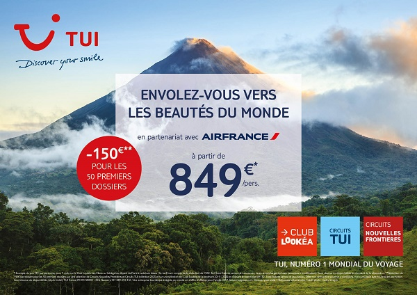 Pour apporter un peu de soleil dans les agences TUI lance une opération conjointement avec Air France - Crédit photo : TUI