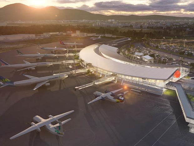 Livraison prévue du nouveau terminal : juin 2022 © DR Aéroport de Martinique