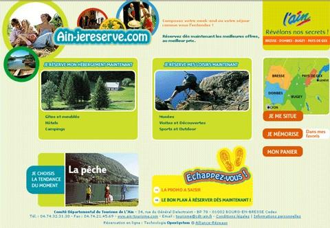 CDT de l'Ain : nouveau site de réservation en ligne