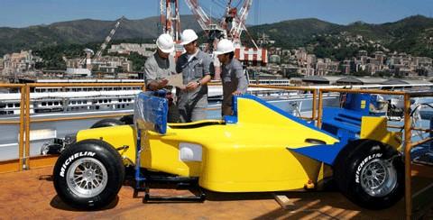 F1 à bord de Costa Concordia