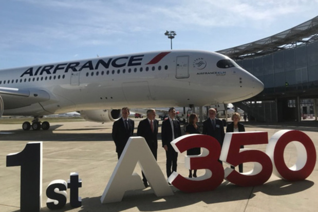 A Toulouse, le 27 septembre 2019, pour la réception du premier A350 d'Air France © PG TM