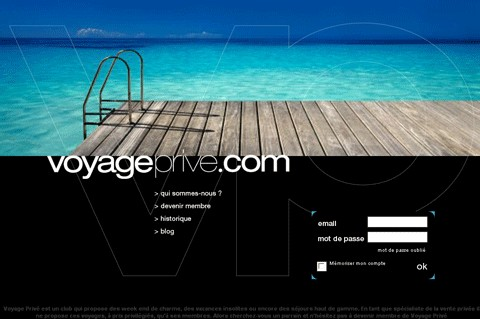 Voyageprive.com, un club privé de voyages sur internet
