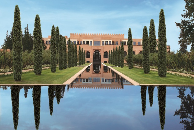 La cour du bâtiment principal reprend la forme de l'historique Medersa Ben Youssef, construite au XIVe siècle, l'un des monuments les plus célèbres de Marrakech. - DR Oberoi