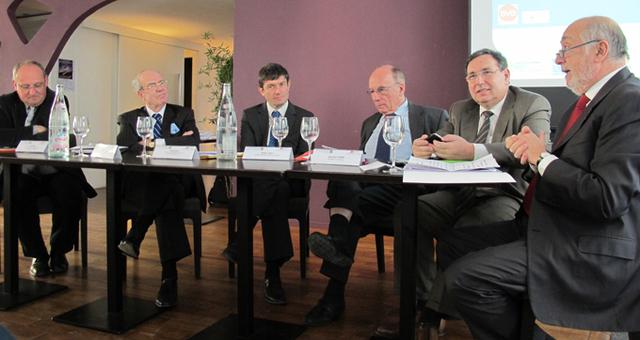 Les présidents des CDT et du CRT étaient réunis pour la présentation de l'étude, vendredi 17 février 2012 à Marseille - DR : A.B.