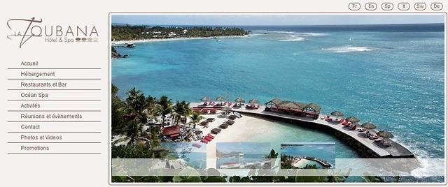 La Toubana Hôtel & Spa met en ligne un nouveau site Internet - Capture d'écran