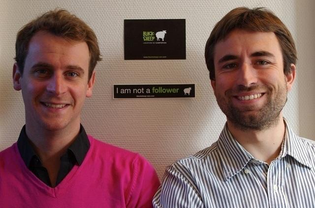 Edouard Amouroux et Sylvain Fauth, les deux créateurs de la société Blacksheep - Photo DR