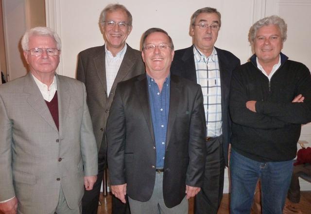 """Quelques uns des """"tuteurs"""" de l'AFST. De gauche à droite : Jacques Javayon, Pierre Surot, Hervé Deville, Jean-Pierre Gaumet, Philippe Cobessi - DR : M.S."""