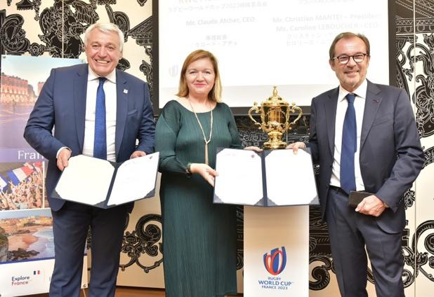 Atout France et le Comité d'Organisation France 2023 ont signé une convention de partenariat visant à promouvoir la Coupe du Monde 2023 à l'international - DR : Atout France