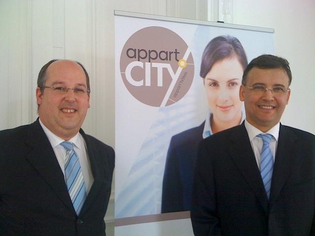 Guillaume du Poy et Pierre Vigna les nouveaux dirigeants du groupe Appart'City. DR-LAC