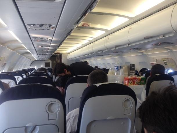 Malgré les départs en vacances le vol affiche un remplissage très faible : 57 passagers sur 142, soit 40,7% sa concurrente affichant des coefficients moyens bien supérieurs./photo JDL
