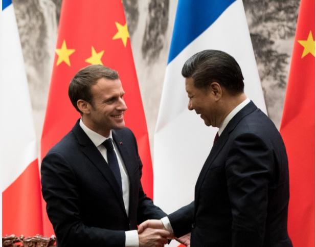 Emmanuel Macron et Xi Jinping en Chine - DR Elysées