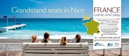 Le CRT Riviera Côte d'Azur et les OT de Nice et d'Antibes se lancent dans une campagne de communication commune en Grande Bretagne - Visuel de la campagne