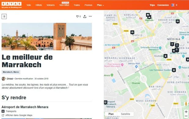 Guide permet de créer des itinéraires personnalisés et prévoir des activités sur une carte interactive - DR