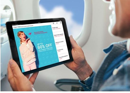 A partir de ce jour, La Compagie propose à ses passagers la nouvelle génération de « shopping dans les airs - Crédit photo : Skydeals