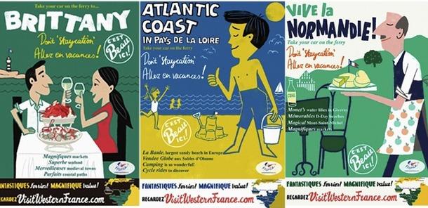 Les affiches originales qui mettent en scène avec humour les clichés des Français. DR