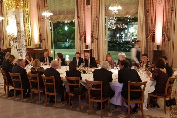 Le dîner de Gala dans le Salon Empire du Grand Hôtel de Paris - Photo CE